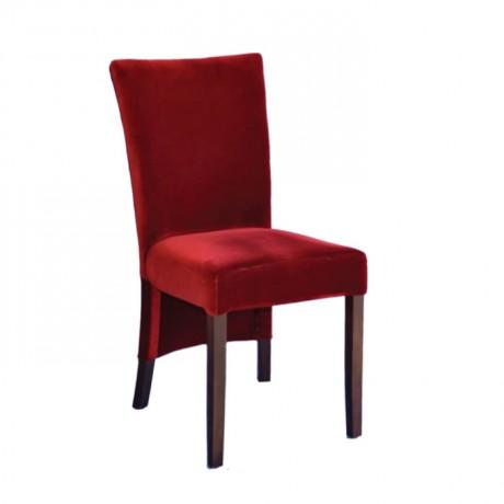 Bordo Kumaşlı Ahşap Restoran Sandalyesi - msab242