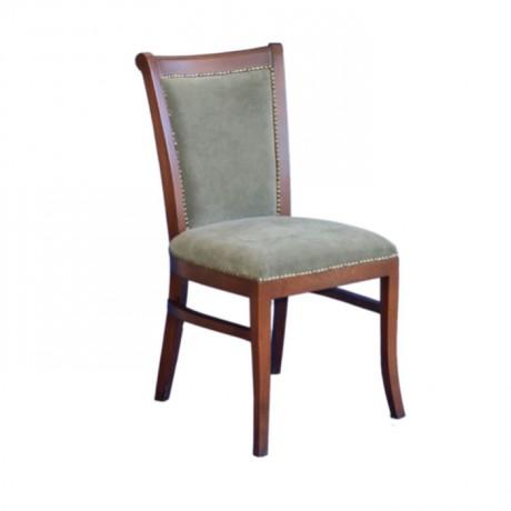 Çağla Yeşil Kumaş Döşemeli Eskitme Boyalı Modern Restoran Sandalyesi - msaf40