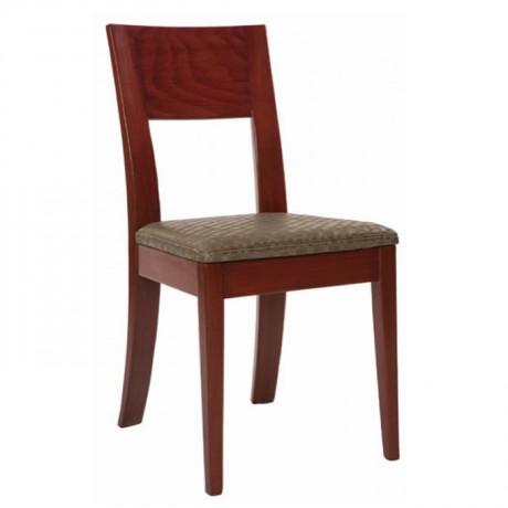 Ceviz Boyalı Ahşap Yemek Sandalyesi - msaf21