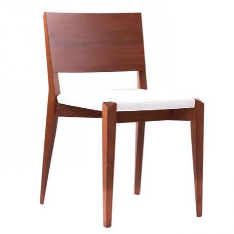 Ceviz Boyalı Modern Ahşap Sandalye - msaf14