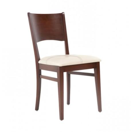 Ceviz Cilalı Modern Ahşap Sandalye - msag03