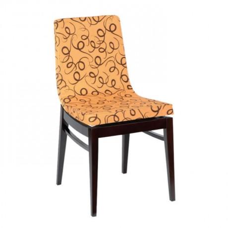 Çiçek Desenl Poliüretan Süngerli Modern Sandalye - msag72