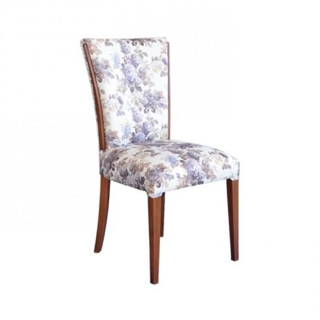 Çiçek Desenli Eskitme Sandalye - msaf38