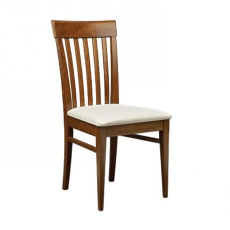 Cilalı Ahşap Modern Cafe Restoran Sandalyesi - msag123
