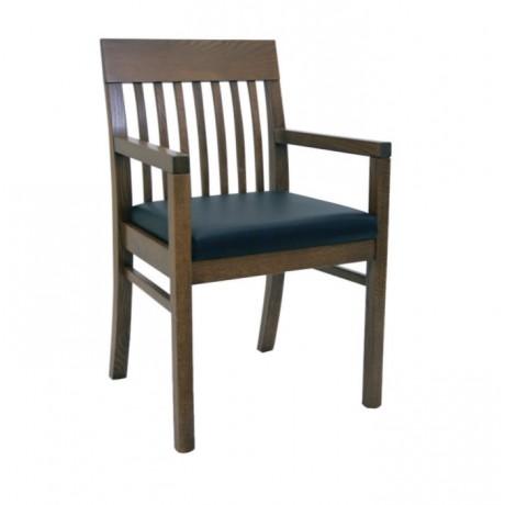 Çıtalı Ahşap Kollu Modern Cafe Sandalyesi - mska82
