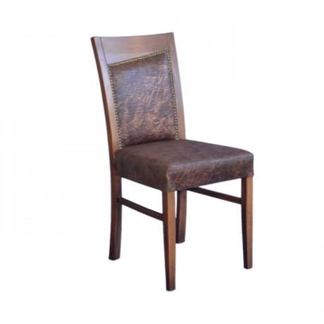 Deri Döşemeli Cilalı Modern Sandalye - msaf43