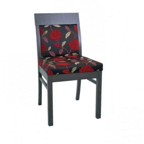 Desenli Kumaş Döşemeli Yemek Odası Modern Sandalyesi - msag90