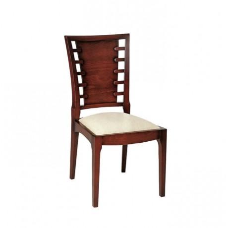 Eskitme Boyalı Ahşap Sırtlı Ceviz Boyalı Modern Sandalye - msag47