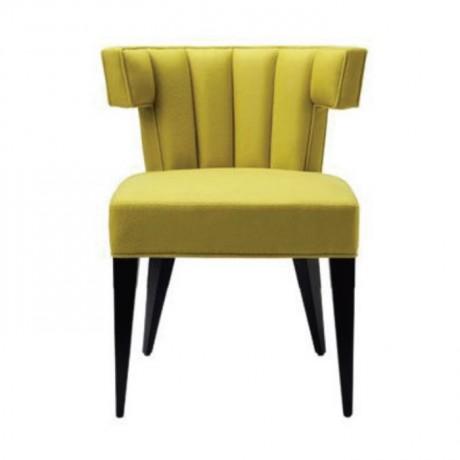 Fıstık Yeşil Kumaş Dilimli Döşemeli Sandalye - msag137
