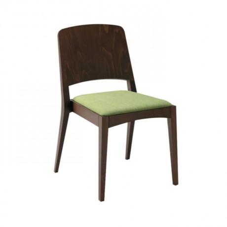 Fıstık Yeşil Minderli Venge Boyalı Kontra Sırtlı Sandalye - msag20