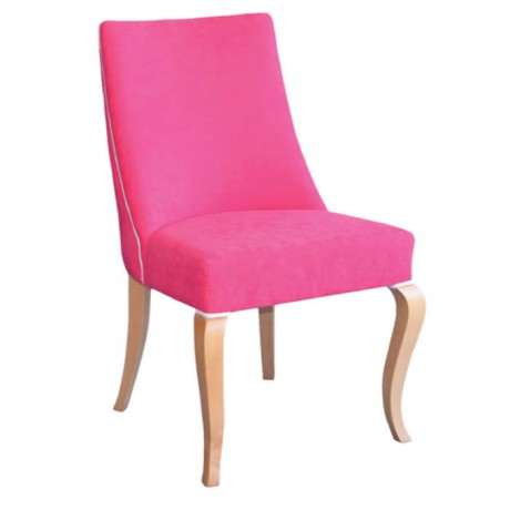 Fuşya Kumaş Döşemeli Ahşap Modern Sandalye - msab225