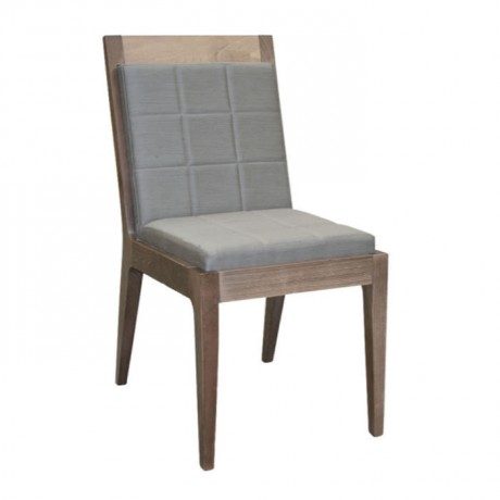 Gri Deri Döşemeli Modern Sandalye - msaf34