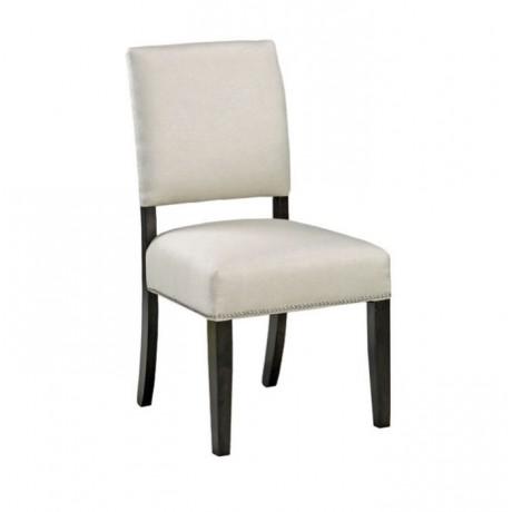 Gri Kumaş Döşemeli Modern Ahşap Sandalye - msad12