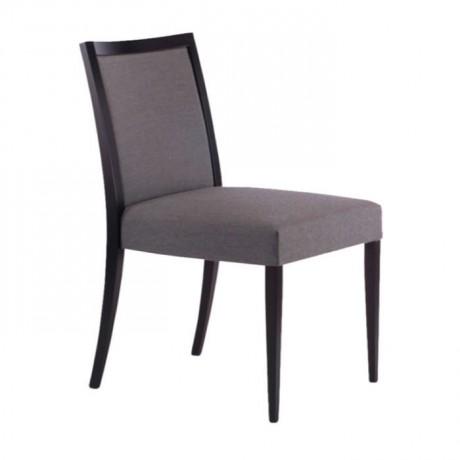 Gri Kumaş Döşemeli Siyah Boyalı Otel Odası Sandalyesi - msag64