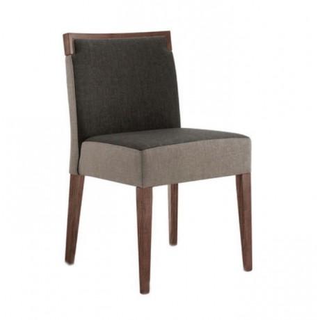 Gri Kumaşlı Ahşap Restoran Restaurant Sandalyesi - msag138