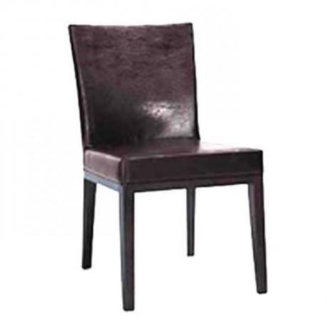 Kahve Deri Döşemeli Modern Cafe Sandalyesi - msad16