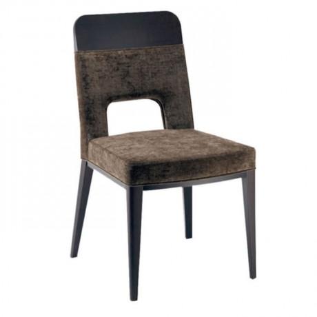 Kahverengi Kumaş Döşemeli Modern Restoran Sandalyesi - msaf27