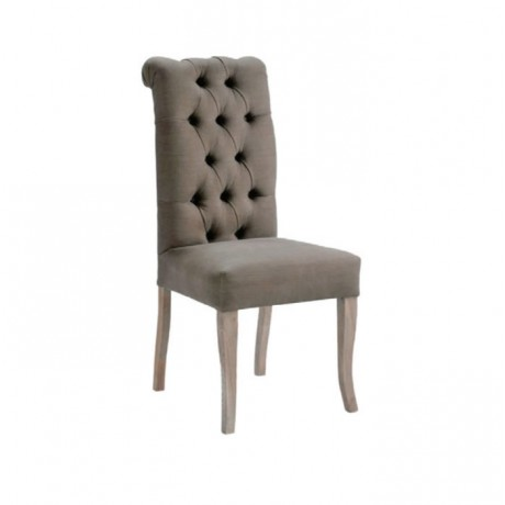 Quilted Gray Fabric Upholstered Hotel Chair - msad38