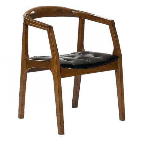 Kapitoneli Oturma Yüzeyli Ahşap Modern Sandalye