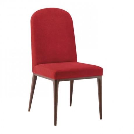 Kırmızı Kumaş Döşemeli Retro Ayaklı Modern Sandalye - msad27
