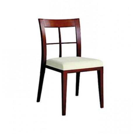 Kızıl Eskitme Boyalı Modern Cafe Sandalyesi - msag17