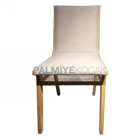 Kumaş Döşemeli Modern Ahşap Sandalye - Ahşap Sandalye