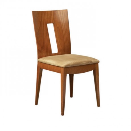 Kontralı Açık Eskitme Krem Minderli Modern Sandalye - msag124