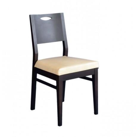 Kontralı Ahşap Modern Otel Restoranı Sandalyesi - msag10
