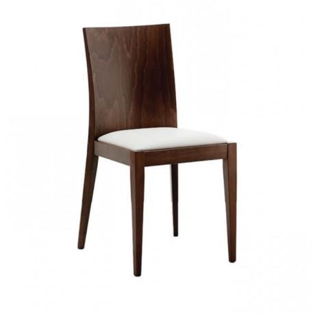 Kontralı Ceviz Boyalı Modern Ahşap Sandalye - msag103