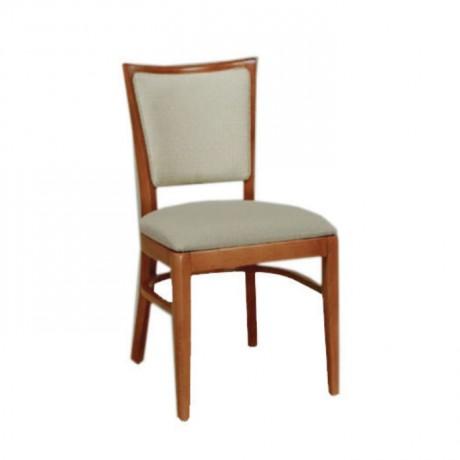 Krem Derili parlak Natural Boyalı Sandalye - msag35