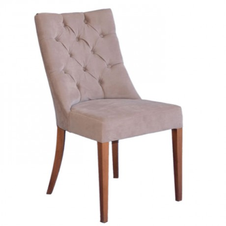 Fabric Upholstered Wooden Quilted Armchair