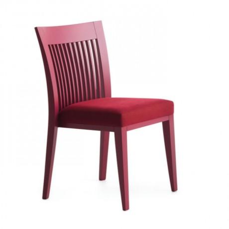Lake Boyalı Dik Çitalı Ahşap Modern Sandalye - msag112
