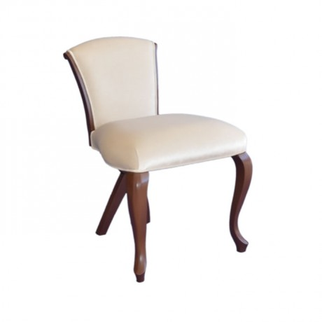 Lukens Ayak Krem Döşemeli Modern Sandalye - msaf47