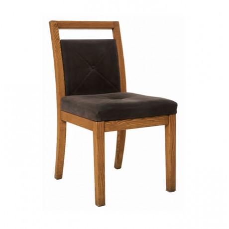 Meşe Ahşaplı Natural Boyalı Modern Ahşap Sandalye - msag96