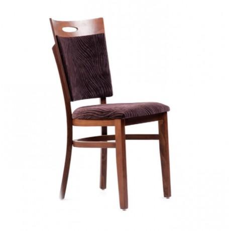 Mürdüm Kumaş Döşemeli Ahşap Modern Sandalye - msaf07