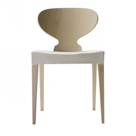 Oval Sırtlı Natürel Meşe Boyalı Modern Sandalye - msag45