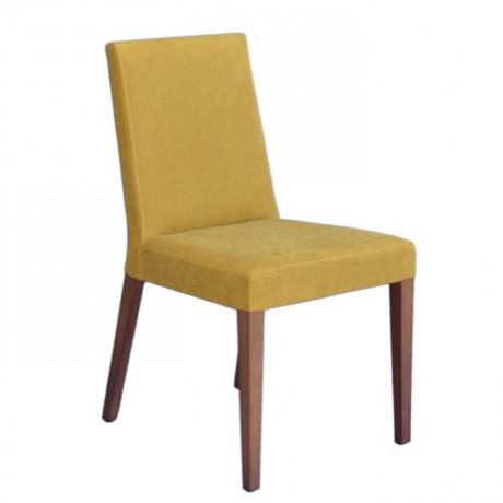 Sarı Kumaş Döşemeli Modern Yemek Sandalyesi - msab230