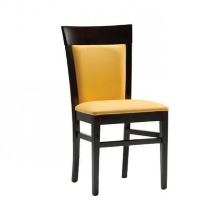 Sarı Kumaş Döşemeli Yemek Odası Takımı Sandalyesi - msag108