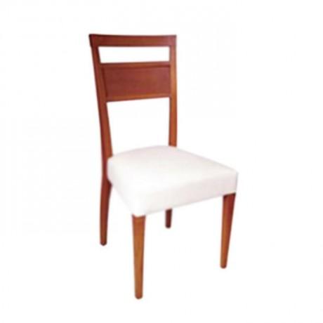 Sırtı Hasırlı Krem Derili Modern Sandalye - msag27