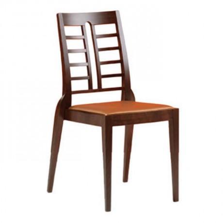 Sırtı Izgaralı Ahşap Eskitme Modern Sandalye - msag100