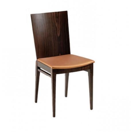 Sırtı Kontralı Gürgen Ahşaplı Restoran Sandalyesi - msag101