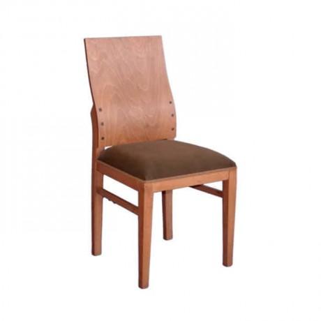 Sırtı Kontralı Kiraz Rengi Boyalı Modern Sandalye - msag44