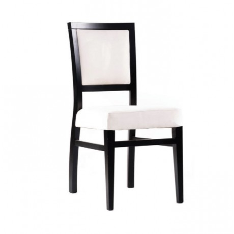 Siyah Boyalı Beyaz Derili Modern Sandalye - msaf06