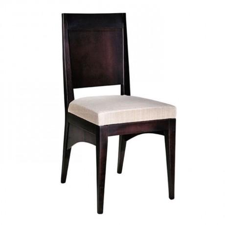 Siyah Boyalı Beyaz Döşemeli Sandalye - msag34
