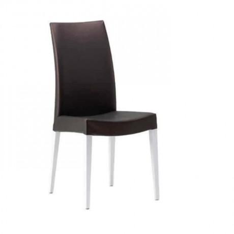 Siyah Derili Beyaz Lake Ayaklı Giydirme Sandalye - msag95