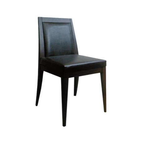 Siyah Derili Siyah Boyalı Modern Sandalye - msaf16