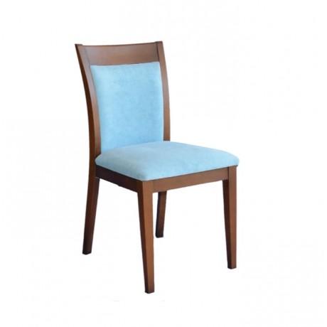 Turkuaz Kumaşlı Eskitme Boyalı Modern Ahşap Sandalye - msaf49