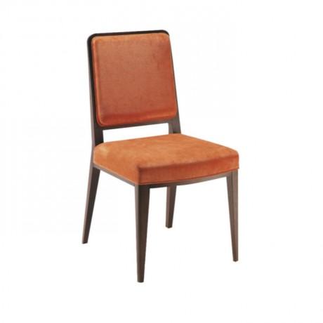 Turuncu Kumaş Döşemeli Modern Eskitme Sandalye - msag63