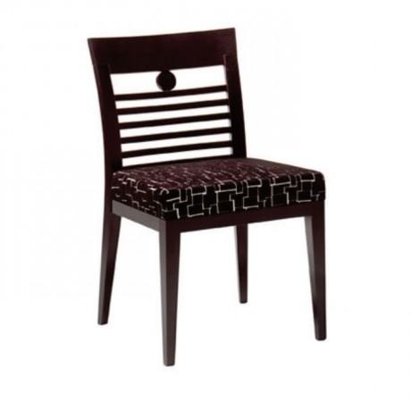 Yatay Çıtalı Gürgen Ahşaplı Koyu Eskitme Sandalye - msag107