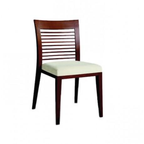 Yatay Çıtalı Modern Restoran Sandalyesi - msag15